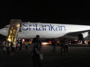 スリランカの飛行機