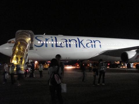 スリランカ航空でモルディブへ
